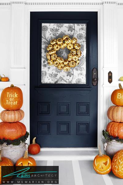 کدوهای به هم چسبیده -دکوراسیون هالووین
