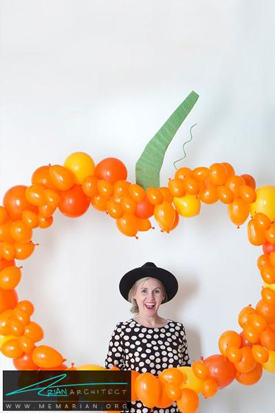 بادکنک های کدویی به رنگ نارنجی -دکوراسیون هالووین