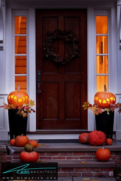 دکوراسیون هالووین در ورودی خانه -دکوراسیون هالووین