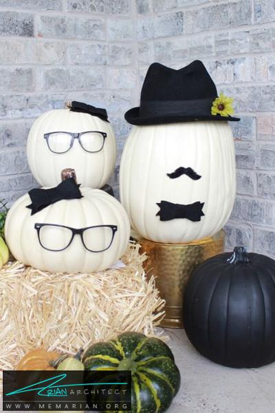 ساخت چهره های خنده دار با کدو -دکوراسیون هالووین