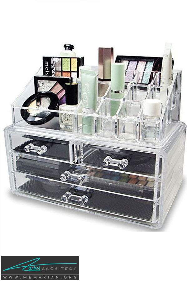 نگهدارنده لوازم آرایشی -سازماندهی خانه