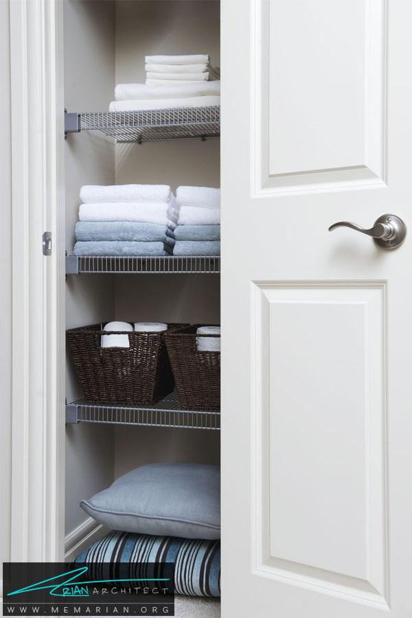 کمد اختصاصی حوله ها -سازماندهی خانه
