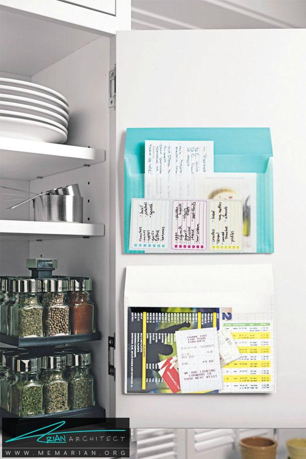 نصب پوشه در درب کابینت -سازماندهی خانه