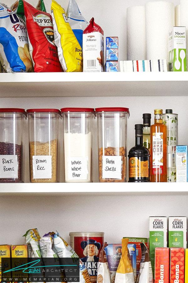 قفسه های کاربردی در آشپزخانه -سازماندهی خانه
