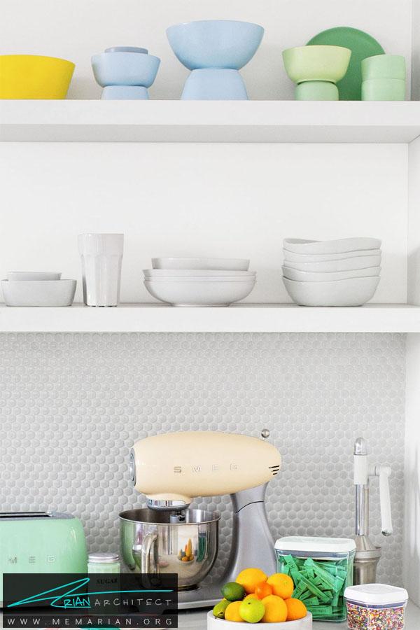 قفسه های نگهدارنده ظروف -سازماندهی خانه