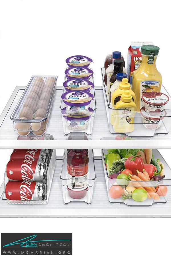 قفسه های یخچال فریزر -سازماندهی خانه