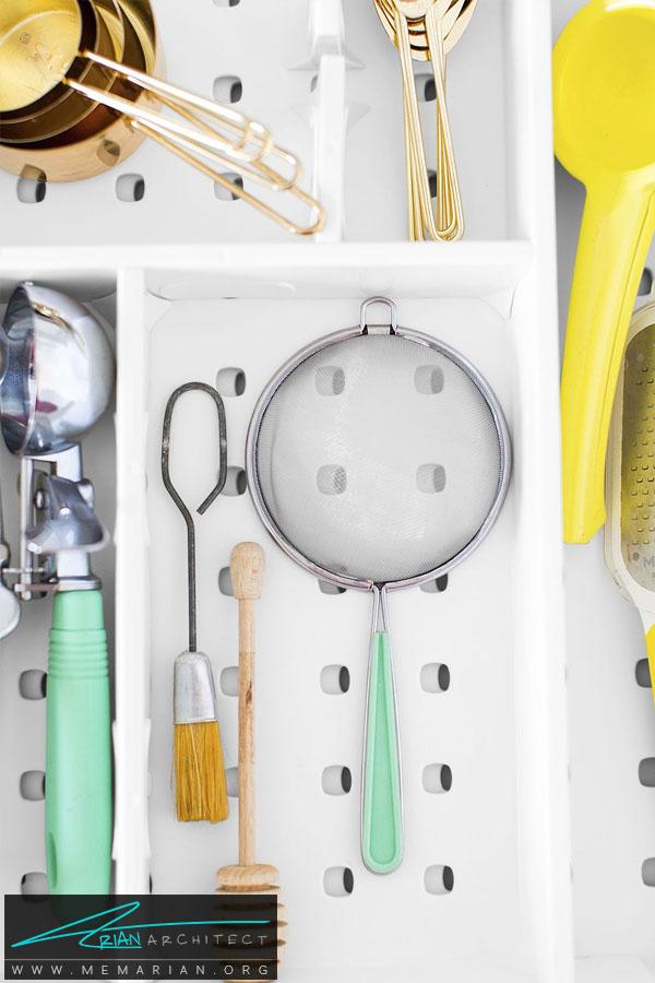 نگهدارنده وسایل و ابزار آشپزخانه -سازماندهی خانه