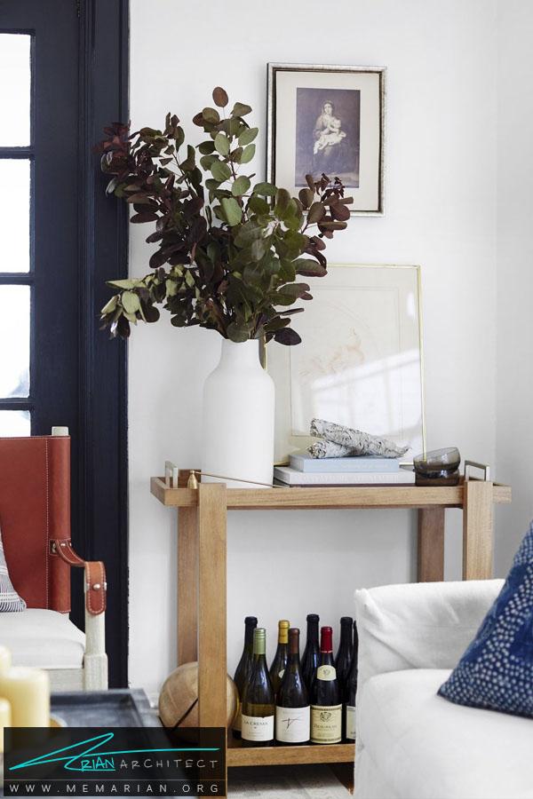 میز چوبی ساده -چیدمان اتاق پذیرایی