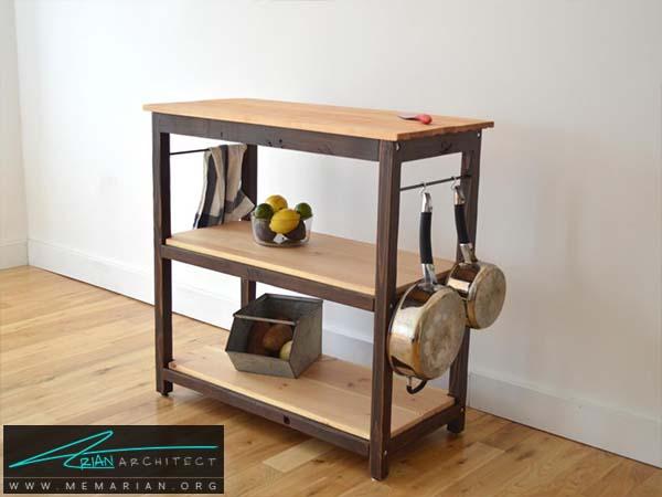 میز جزیره کوچک انتخابی مناسب برای آشپزخانه های کوچک - دکوراسیون میز جزیره آشپزخانه
