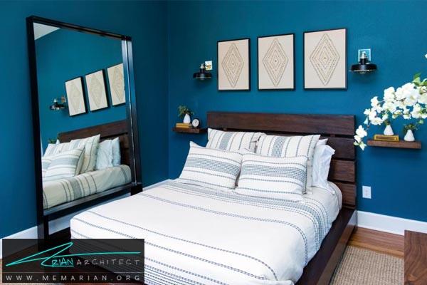 آینه های بزرگ-دکوراسیون اتاق خواب کوچک
