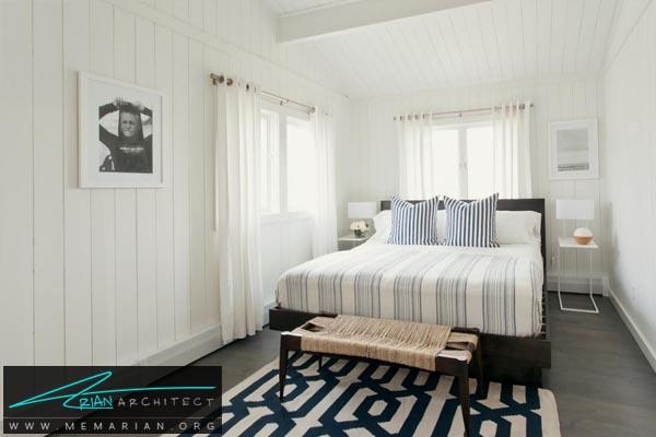 تاثیر خطوط عمودی در دکوراسیون-دکوراسیون اتاق خواب کوچک