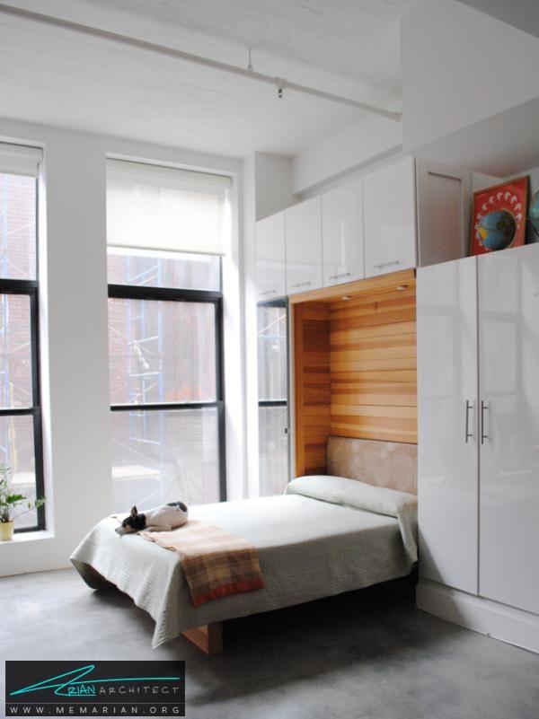 تخت خواب های دیواری-دکوراسیون اتاق خواب کوچک