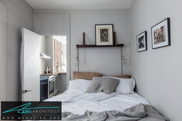 لامپ های مطالعه در شب-دکوراسیون اتاق خواب کوچک
