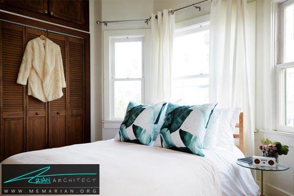 تخت خواب در اتاق چندظلعی-دکوراسیون اتاق خواب کوچک