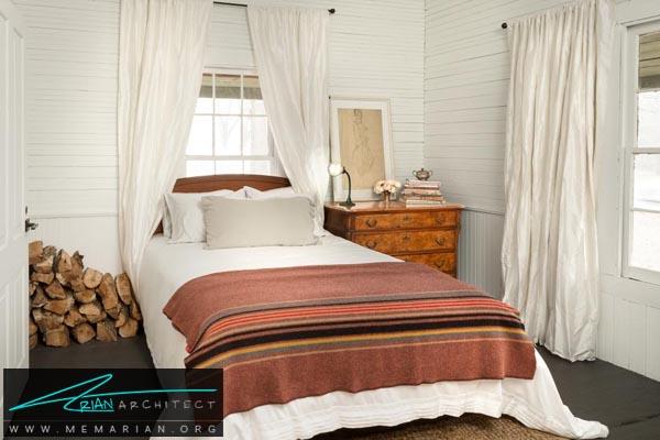 استفاده از رنگ های روشن دردکوراسیون اتاق خواب کوچک-دکوراسیون اتاق خواب کوچک