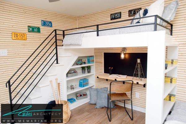 جمع کردن تمام اتاق در یک ناحیه-دکوراسیون اتاق خواب کوچک