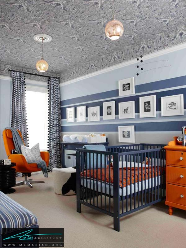 ترکیب رنگ نارنجی و سایه های آبی - ترکیب رنگ متفاوت