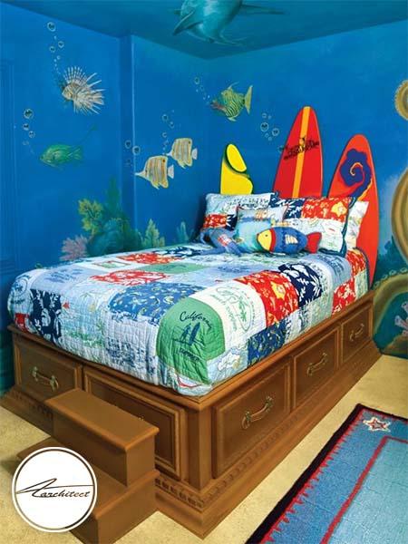 دکوراسیون زیر دریایی برای اتاق کودک-تزئین دکوراسیون اتاق کودک