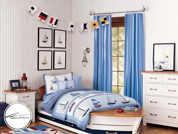 سبک بادبان کشتی در اتاق خواب-تزئین دکوراسیون اتاق کودک