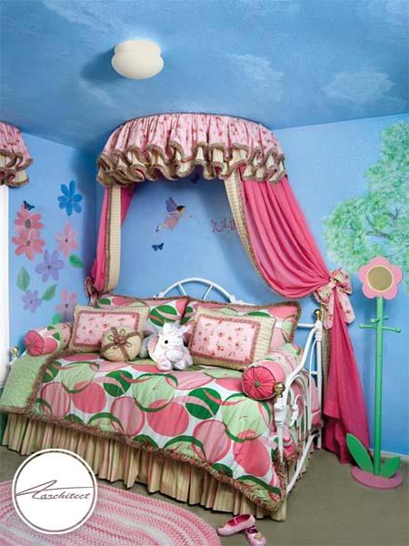 دکوراسیون فانتزی برای دخترخانوم ها-تزئین دکوراسیون اتاق کودک