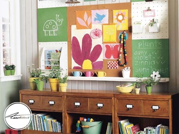 دکوراسیون هوشمند آموزشی برای اتاق کودکان-تزئین دکوراسیون اتاق کودک
