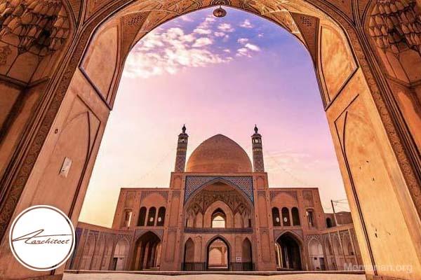 معماری مسجد آقا بزرگ در کاشان -معماری بناهای تاریخی ایران