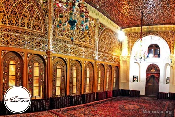 معماری خانه و حسینیه امینی ها در قزوین -معماری بناهای تاریخی ایران