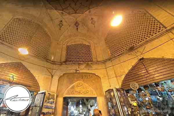 معماری سرای بازار مشیر در شیراز -معماری بناهای تاریخی ایران