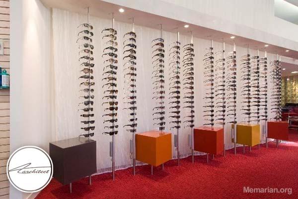 دکور و ویترین دردکوراسیون مغازه عینک فروشی