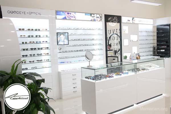 دکوراسیون مغازه عینک فروشی مشتری پسند و جذاب