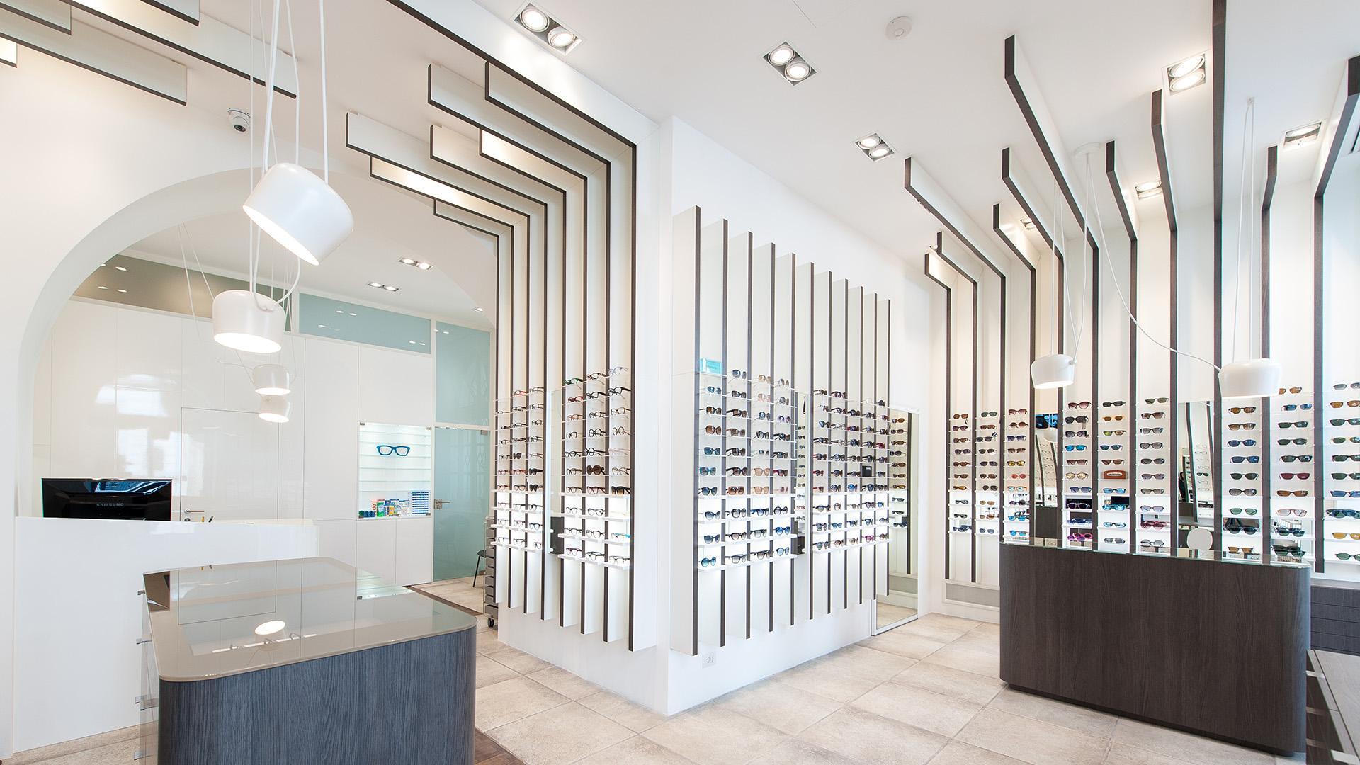 طراحی دکوراسیون داخلی فروشگاه عینک فروشی