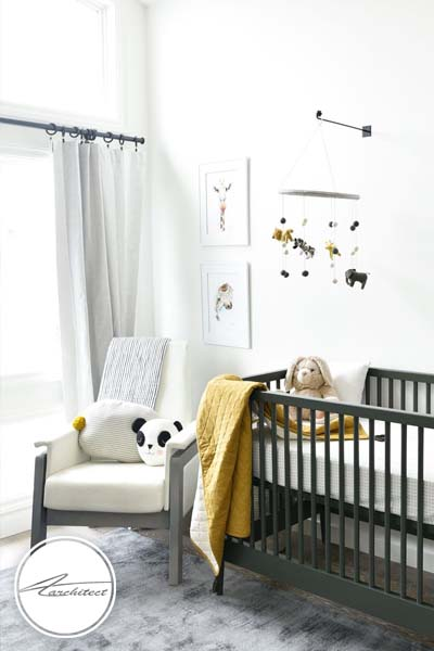 دکوراسیون زرد و خاکستری برای اتاق کودک -اتاق کودک