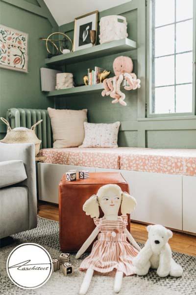 اتاق کودک با رنگ سبز کلاسیک -اتاق کودک