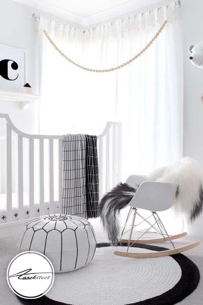 دکور سیاه و سفید و مدرن برای اتاق کودک -اتاق کودک