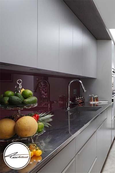 خاکستری مدرن -ترکیب رنگ آشپزخانه