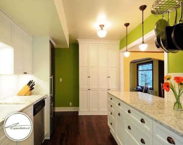 ترکیب زرد و سبز -ترکیب رنگ آشپزخانه