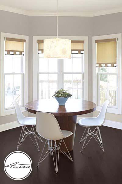 ترکیب رنگ خاکستری و بژ -ترکیب رنگ آشپزخانه