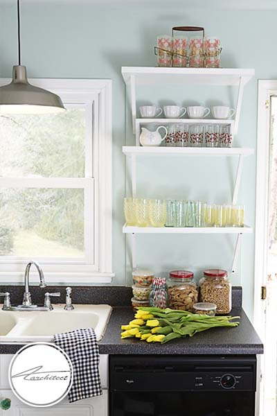 رنگ آبی ملایم -ترکیب رنگ آشپزخانه