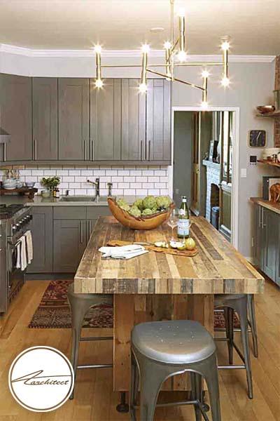 خاکستری تیره -ترکیب رنگ آشپزخانه