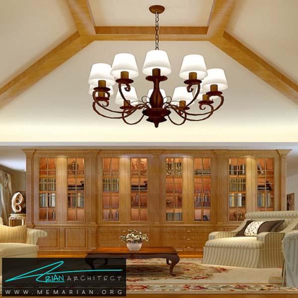 انتخاب رنگ لوستر متناسب با ترکیب رنگ دکوراسیون داخلی -کاربرد لوستر در دکوراسیون