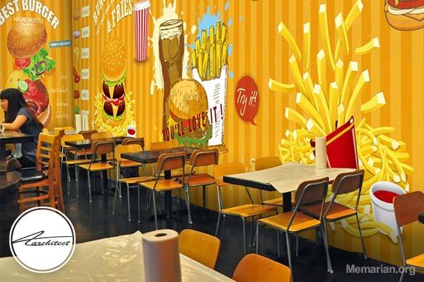 طراحی دکوراسیون داخلی رستوران و فست فود