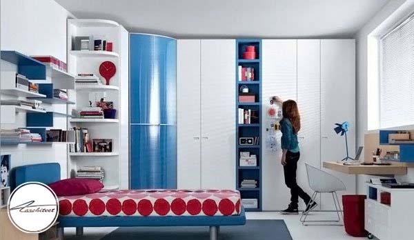 طراحی دکوراسیون مدرن با ترکیب سه رنگ -دکوراسیون شیک اتاق دختر