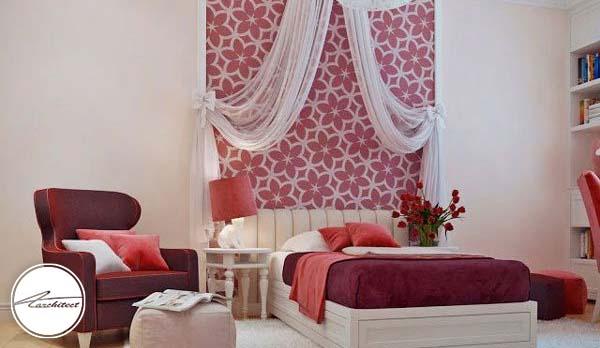 تخت خواب و دکوراسیون کاملا دخترانه -دکوراسیون شیک اتاق دختر
