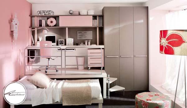 دکور شیک با رنگ های لطیف -دکوراسیون شیک اتاق دختر