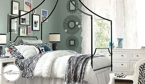 اتاق خواب آرامش بخش با دکوراسیون سبز -دکوراسیون شیک اتاق دختر