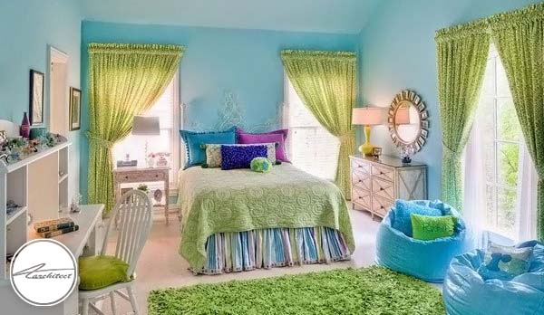 چیدمان اتاق خواب دخترانه -دکوراسیون شیک اتاق دختر