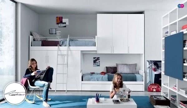 اتاقی برای دو نفر -دکوراسیون شیک اتاق دختر