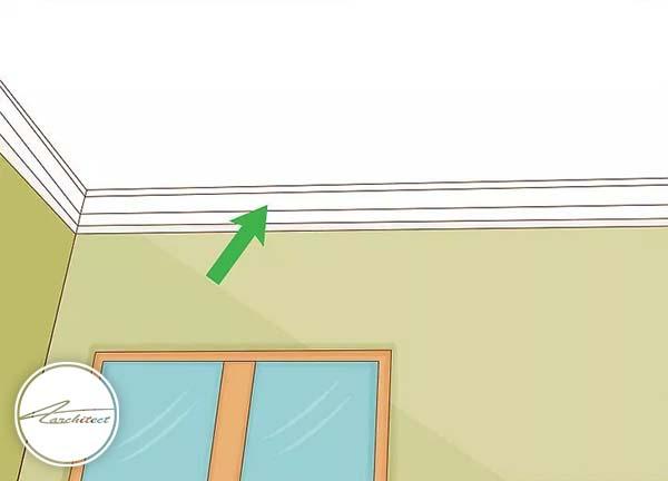 رنگ کردن حاشیه های سقف، به شما کمک زیادی خواهد کرد -بلندتر نشان دادن سقف خانه