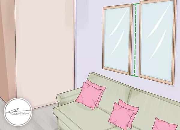 استفاده از آینه ها برای ورود حجم نور بیشتر -بلندتر نشان دادن سقف خانه