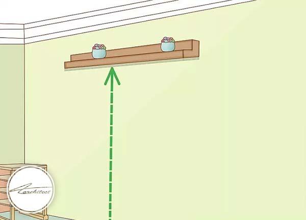 طاقچه و قفسه هایتان را به سقف نزدیک تر کنید -بلندتر نشان دادن سقف خانه